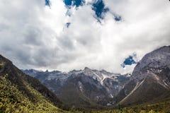 Jade Dragon Snow Mountain. Lijiang, Yunnan province, China Royalty Free Stock Photos