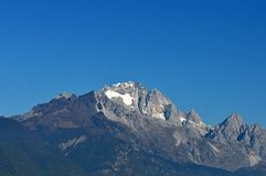 Jade Dragon Snow Mountain no inverno fotografia de stock