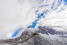 Jade dragon snow mountain Royalty Free Stock Photography