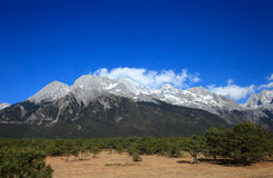 Jade dragon snow mountain. In Yunnan, China stock photo