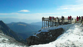 Jade Dragon Snow Mountain. In yunnan Province Royalty Free Stock Image