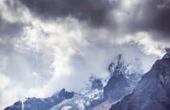 Jade Dragon Snow Mountain. Mountain in Yunnan province, China Stock Image