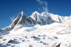 Jade Dragon Snowy Mountain 1 Stock Images