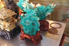 Jade dragon stone Royalty Free Stock Images