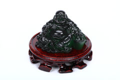 Jade fat laughing buddha Stock Images