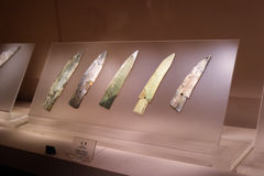 Jade Ge del museo di Sanxingdui Immagine Stock Libera da Diritti