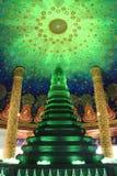 Jade glass pagoda Royalty Free Stock Photo