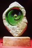 Jade helicoidal em uma pedra Imagens de Stock Royalty Free