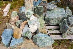Jade im Naturzustand Lizenzfreies Stockfoto