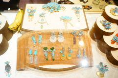 Jade jewelry. Exhibition in Shenzhen Exhibition Center sales. In Guangdong, china Stock Photo