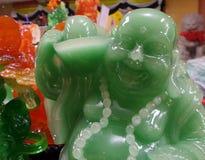 Jade Laughing Buddha Immagine Stock Libera da Diritti