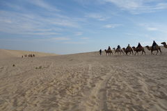 Jade Lonza Lake Park, chifeng city, Inner Mongolia, China in cross-country, camel riding and skateboarding sand Royalty Free Stock Photography