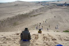 Jade Lonza Lake Park, chifeng city, Inner Mongolia, China in cross-country, camel riding and skateboarding sand Stock Image