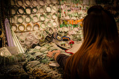 Jade market in hong kong Royalty Free Stock Photo