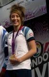 Jade olímpico británico Jones del medallista de oro Fotografía de archivo libre de regalías