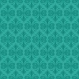 Jade Ornamental Background foncée avec Teal Fur Photos stock