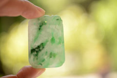 Jade pendant--representation of luck and fortune Royalty Free Stock Images