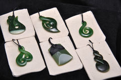 Jade pendants Stock Images