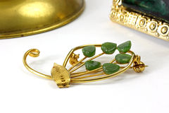 Jade Pin and Barrette Stock Images