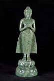 Jade sculpture of buddha isolated on black background Royalty Free Stock Image