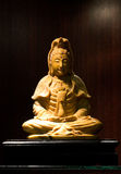 Jade sculpture of Guanyin, Goddess of Mercy in China Royalty Free Stock Images