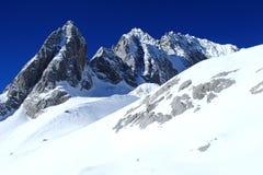 Jade Snow Dragon Mountain, Lijiang, il Yunnan, Cina Fotografia Stock Libera da Diritti