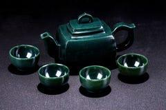 Jade teapot Stock Images