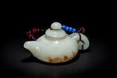 Jade teapot Royalty Free Stock Photography