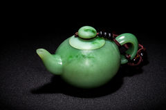 Jade teapot Stock Image