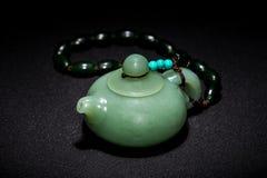 Jade teapot Royalty Free Stock Photo