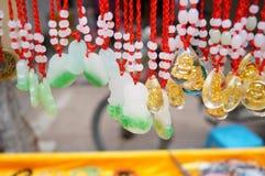 Jadeanhänger Anhänger Lizenzfreies Stockfoto