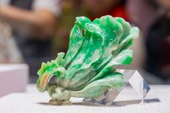 Jadeite Cabbage of National Palace Museum display in the Taichung World Flora Exposition. Taichung, DEC 22: Jadeite Cabbage of National Palace Museum display in royalty free stock photos