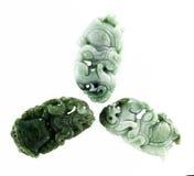 Jadeleo för Burma tre snida Arkivbild