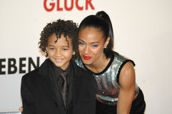 Jaden Christopher Syre Smith, Jada Pinkett Smith Stock Photos