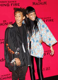 Jaden Smith och Willow Smith Arkivbilder