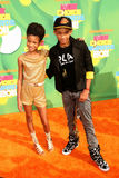 Jaden Smith, Willow Smith. LOS ANGELES - APR 2:  Willow Smith, Jaden Smith arriving at the 2011 Kids Choice Awards at Galen Center, USC on April 2, 2011 in Los Royalty Free Stock Photo
