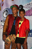 Jaden Smith, Willow Smith stock photo