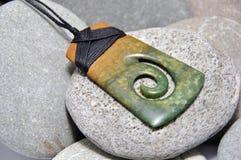 Jadetegenhanger Stock Afbeelding