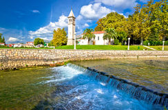 Jadro river waterfall in town of Solin Royalty Free Stock Photo