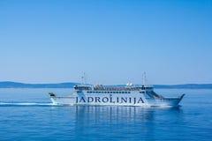 Jadrolinija Ancona per spaccare il traghetto fotografie stock libere da diritti