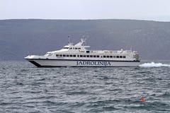 Jadrolinija catamaran Royalty Free Stock Photos