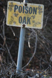 Jadu dębu znak przy parkiem Obraz Royalty Free