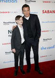 Jaeden Lieberher and Clive Owen Royalty Free Stock Images