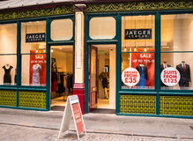 Jaeger Clothing Store in London, England Royalty Free Stock Photography