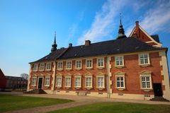 Jaegerspris Palace, Frederikssund, Denmark. The royal palace from the 14th century Royalty Free Stock Photos