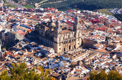 Jaen Cathedral from hill.   Spain Stock Photo