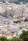 Jaen citry and cathedral Andalusia Spain Stock Photos