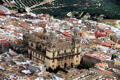 Jaen citry and cathedral Andalusia Spain Stock Photo