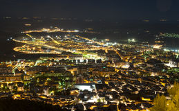 Jaen City at night Spain Royalty Free Stock Photography