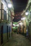 Jaen-Straße in einer historischen Mitte von La Paz lizenzfreie stockfotos